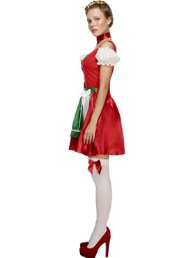 Adult Fever Christmas Dirndl Costume - Back View