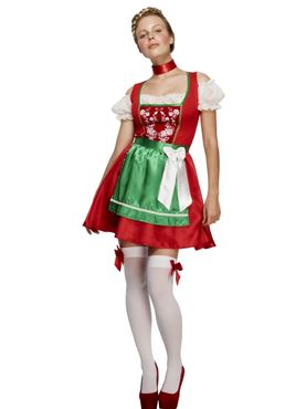 Adult Fever Christmas Dirndl Costume