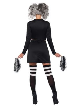 Adult Fever Gothic Cheerleader Costume - Side View
