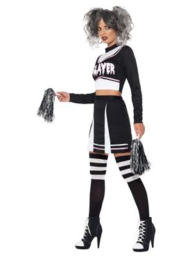 Adult Fever Gothic Cheerleader Costume - Back View