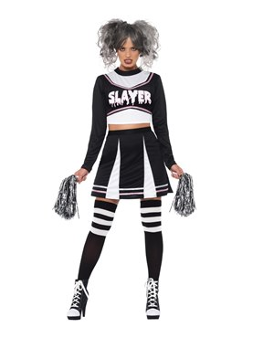 Adult Fever Gothic Cheerleader Costume