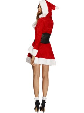 Adult Fever Hooded Santa Costume - Side View