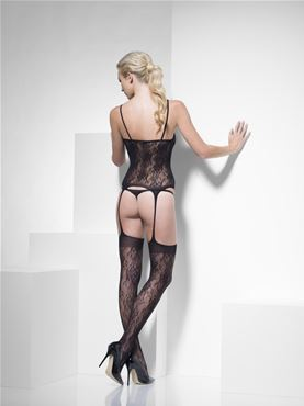 Adult Fever Lace Body Stocking - Side View