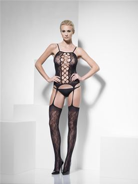Adult Fever Lace Body Stocking - Back View