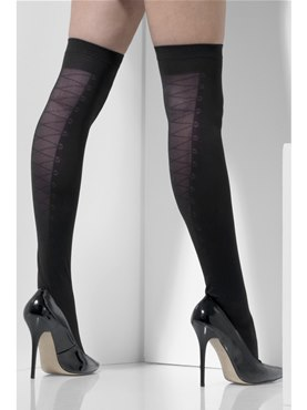 Adult Fever Lace Up Hold Ups