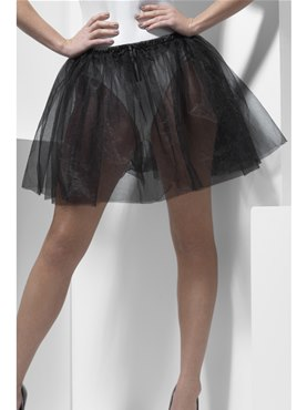 Adult Fever Longer Length Black Petticoat