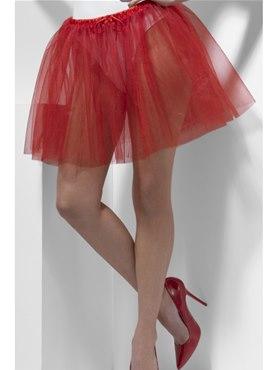 Adult Fever Longer Length Red Petticoat