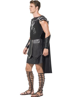 Adult Fever Male Dark Gladiator Costume - Back View