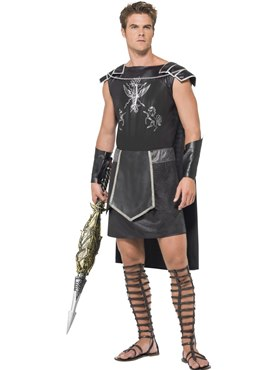Adult Fever Male Dark Gladiator Costume Couples Costume