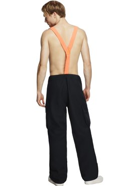 Adult Fever Male Firefighter Costume - Side View