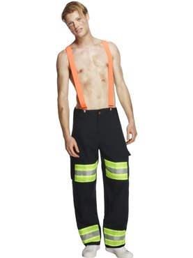 Adult Fever Male Firefighter Costume