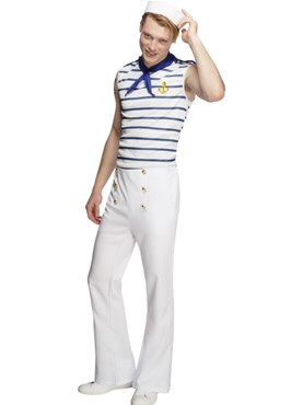 Adult Fever Male French Sailor Couples Costume