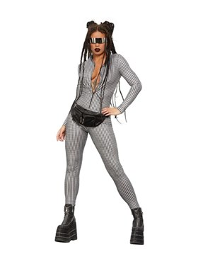 Adult Fever Miss Whiplash Disco Holographic Costume