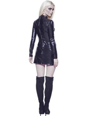 Adult Fever Miss Whiplash Skeleton Costume - Side View