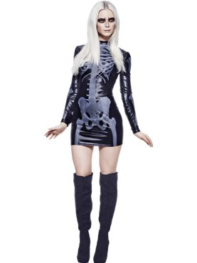 Adult Fever Miss Whiplash Skeleton Costume
