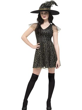 Adult Fever Moon & Stars Witch Costume
