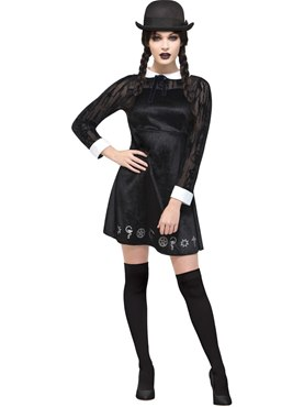 Adult Fever Deluxe Gothic School Girl Costume
