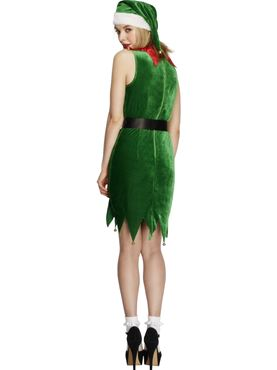 Adult Fever Naughty Elf Costume - Side View