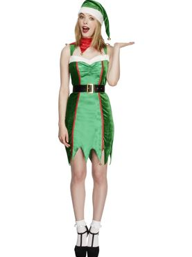 Adult Fever Naughty Elf Costume Thumbnail