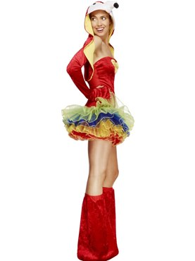 Adult Fever Parrot Costume - Back View
