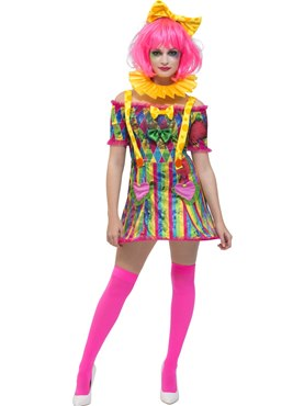 Adult Fever Patchwork Clown Costume