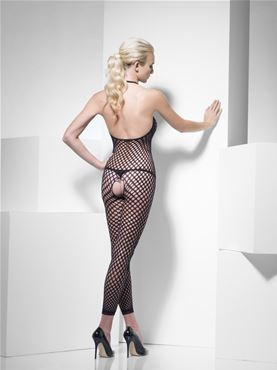 Adult Fever Polka Dot Body Stocking - Back View