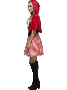 Adult Fever Red Riding Hood Costume - Back View