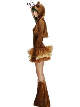 Adult Fever Reindeer Costume - Back View