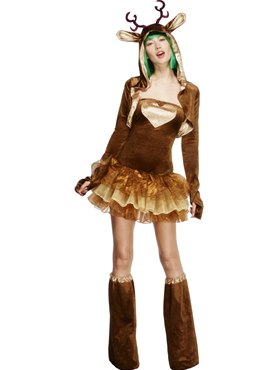 Adult Fever Reindeer Costume Couples Costume