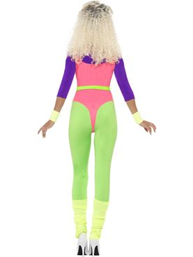 Adult 80s Workout Costume - Side View