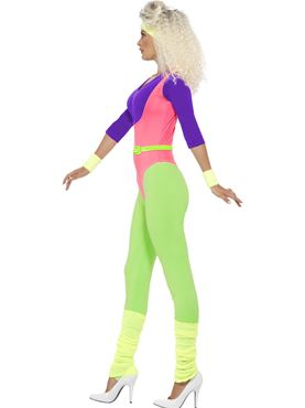 Adult 80s Workout Costume - Back View