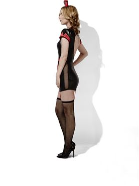 Adult Fever Role Play Midnight Nurse Costume - Back View