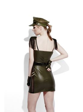 Adult Fever Role Play Military Chief Costume - Side View
