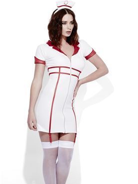 Adult Fever Role Play Nurse Costume