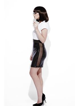 Adult Fever Role Play Secretary Costume - Back View