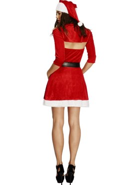 Adult Fever Santa Babe Costume - Side View