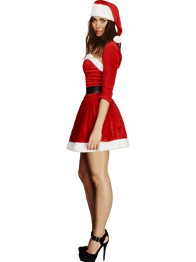 Adult Fever Santa Babe Costume - Back View