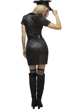 Adult Fever Sexy Cop Costume - Side View