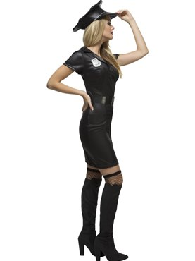Adult Fever Sexy Cop Costume - Back View