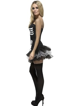 Adult Fever Skeleton Costume - Back View