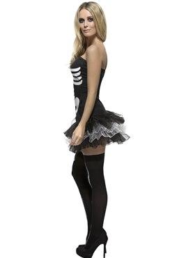 Adult Fever Skeleton Costume - Back View