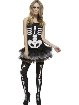 Adult Fever Skeleton Costume Couples Costume