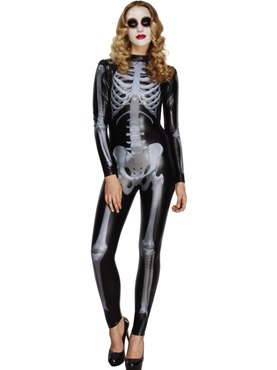 Adult Fever Skeleton Costume