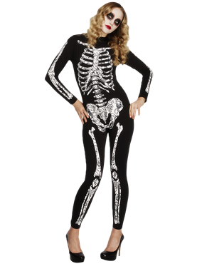 Adult Fever Soleil Skeleton Costume Couples Costume