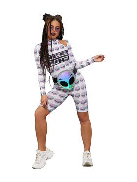 Adult Fever Space Unitard Costume