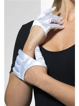 Adult Fever White Half Palm Gloves
