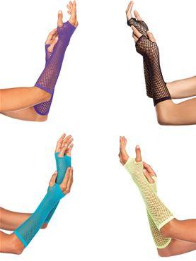 Adult Fingerless Gloves - Back View