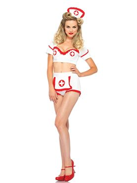 Adult First Aid Flirt Costume - Side View