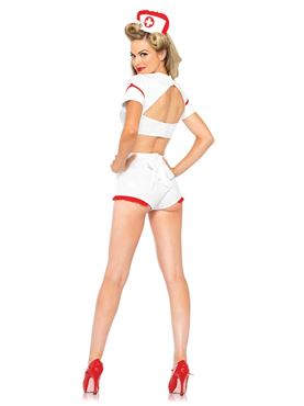 Adult First Aid Flirt Costume - Back View
