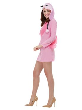 Adult Flamingo Costume - Side View